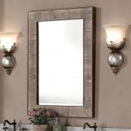 26 x 36 po Miroir pour Vanité avec Cadre en Bois de Sapin (DK-WK9226-SW)