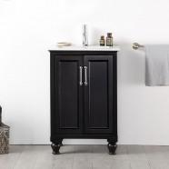 24 po Meuble Salle de Bain/Vanité Sur Pieds à Lavabo Simple (DK-6524-E)