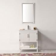 30 po Meuble Salle de Bain/Vanité Sur Pieds à Lavabo Simple en Buis (DK-5930-W-SET)