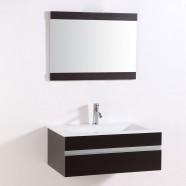32 po Meuble Salle de Bain Suspendu au Mur à Lavabo Simple avec Miroir (DK-TH9021D-SET)