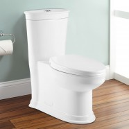 Toilette Monopièce Économique d'Eau en Céramique à Double Chasse (DK-ZBQ-12235)