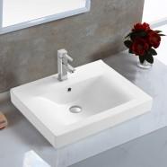 Lavabo Blanc de Dessus du Comptoir pour Vanité Salle de Bain (CL-4038-60)