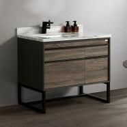40 po Vanité autoportante avec lavabo (G8295-V)
