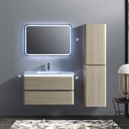 """Ensemble meuble salle de bain avec vanité 36"""", miroir LED, et cabinet latéral (BNW9002LT-SET)"""