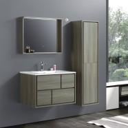 """Ensemble meuble salle de bain avec vanité 32"""", miroir et cabinet latéral (VSW8002-SET)"""