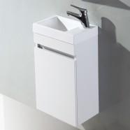 16 po Vanité suspendu au mur avec lavabo (MS400A-V)