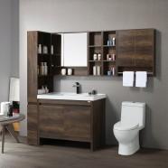 """Ensemble meuble salle de bain avec vanité 40"""", miroir et cabinet latéral (G8310-SET)"""