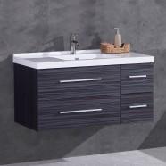 40 po Vanité en contreplaqué avec lavabo (DK-T5041-V)