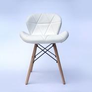 Chaise rembourrée en cuir PU Belleze en blanc (T828E004-WT)