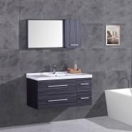 """Ensemble 3 pièces avec vanité 40"""", lavabo et miroir de pharmacie assorti (DK-T5041-SET)"""