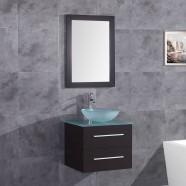 """Ensemble 3 pièces avec vanité 24"""", lavabo et miroir assorti (DK-T9190-SET)"""