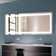 Decoraport 70 x 32 Po Miroir de Salle de Bain LED avec Bouton Tactile, Bluetooth, Anti-Buée, Luminosité Réglable, Montage Vertical & Horizontal (CK010-7032-TX)