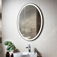 Decoraport 20 x 28 Po Miroir de Salle de Bain LED avec Bouton Tactile, Anti-Buée, Luminosité Réglable, Montage Vertical (D1101-2028)