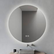 DECORAPORT 36 x 36 Po Miroir de Salle de Bain LED avec Bouton Tactile, Anti-Buée, Luminosité Réglable (D1004-3636)