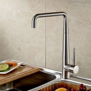 Decoraport Robinet de Cuisine - Laiton Fini Chrome (YDL-1055)
