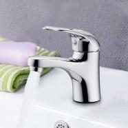 Robinet de Lavabo&Vasque - Simple Trou Simple Levier - Laiton Fini Chrome (3027)