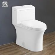 Toilette Monopièce Économique d'Eau en Céramique à Double Chasse et à Action Siphonique (DK-ZBQ-12215)