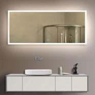 84 x 40 po Miroir LED Salle de Bain Horizontal avec l'Interrupteur Tactile (DK-OD-N031-A)