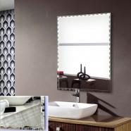 24 x 32 po Miroir Argenté Sans Cadre de Salle de Bain - Accrochage Horizontal et Vertical (DK-OD-B106)