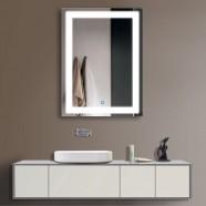 24 x 32 po Miroir Vertical Argenté LED Salle de Bains avec Interrupteur Tactile (DK-OD-CK010)
