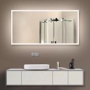 55 x 28 po Miroir LED Salle de Bain Horizontal avec l'Interrupteur Tactile (DK-OD-N031-D)