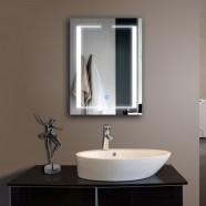 24 x 32 po miroir de salle de bain LED horizontal avec bouton tactile (DK-OD-CL011)