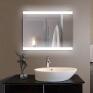 28 x 36 po Miroir LED Horizontal Argenté de Salle de Bains avec l'Interrupteur Tactile (DK-OD-CL056)