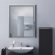 18 x 24 po Miroir Mural Salle de Bain Classique Rectangulaire sans Cadre - Accrochage Vertical (DK-OD-C226C)