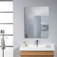 24 x 18 po Miroir Mural Salle de Bain Classique Rectangulaire sans Cadre - Accrochage Vertical (DK-OD-B083C)