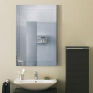 36 x 24 po Miroir Mural Salle de Bain Classique Rectangulaire sans Cadre - Accrochage Vertical (DK-OD-B067A)