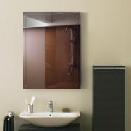 24 x 18 po Miroir Mural Salle de Bain Classique Rectangulaire sans Cadre - Accrochage Vertical (DK-OD-B048C)