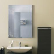 28 x 20 po Miroir Mural Salle de Bain Classique Rectangulaire sans Cadre - Accrochage Vertical (DK-OD-B002B)