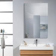36 x 24 po Miroir Mural Salle de Bain Classique Rectangulaire sans Cadre - Accrochage Vertical (DK-OD-B083A)