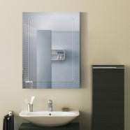 18 x 24 po Miroir Mural Salle de Bain Classique Rectangulaire sans Cadre - Accrochage Vertical (DK-OD-B067C)