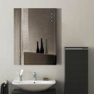 24 x 18 po Miroir Mural Salle de Bain Classique Rectangulaire sans Cadre - Accrochage Vertical (DK-OD-B047C)