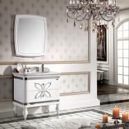 32 po Meuble Salle de Bain avec Pieds à Lavabo Simple avec Miroir (PD-1356)