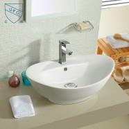 Lavabo-Vasque de Dessus de Comptoir en Céramique Blanche (DK-LSE-8001)