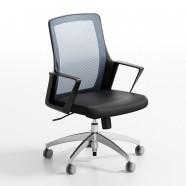Chaise de Bureau Réticulaire Grise Dossier Mi-Hauteur (ZY-102)