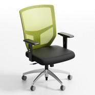 Chaise de Bureau Réticulaire Verte Dossier Mi-Hauteur (ZY-103)