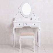 Coiffeuse avec Tabouret et Miroir (JI13004)