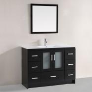 48 po Meuble Salle de Bain Sur Pieds à Lavabo Simple avec Miroir (DK-T9137F)