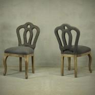 Ensemble de Deux Chaises d'Appoint sans Accoudoirs (PJC397)