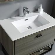 32 po Vanité suspendu au mur avec lavabo (VSW8001-V)