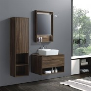 """Ensemble meuble salle de bain avec vanité 32"""", miroir, lavabo et cabinet latéral (AG8001W-SET)"""