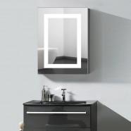 24 x 32  po Armoire-miroir LED Salle de Bain en Position Verticale avec Capteur Infrarouge (DK-OD-NS168-G)