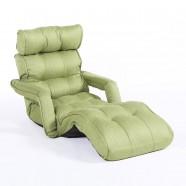 Sofa Pliable à l'étage en Tissu Lin et en Vert (K16RS01-G)