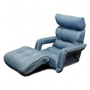 Sofa Pliable à l'étage en Tissu Lin et en Bleu Clair (K16RS01-LB)