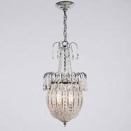 """Semi-plafonnier en Fer & Cristal à 2 Ampoules Bronze - Largeur 11"""" (96001206-2)"""