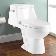 Toilette Monopièce à Simple Chasse et à Action Siphonique (DK-ZBQ-12228)