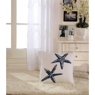 Starfish Printed Cotton Cushion Cover (DK-LG002-1)